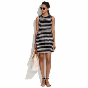 Madewell afternoon dress in textured stripe